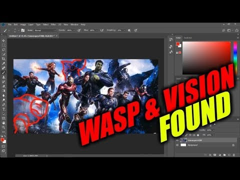 AVENGERS 4 ART LEAK Vision and Wasp FOUND!