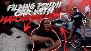 Filling Poudii's Car With 100,000 Marshmallows