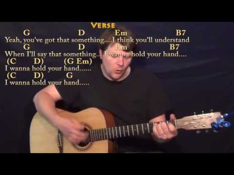 I Want to Hold Your Hand (Beatles) Guitar Cover Lesson with Chords/Lyrics