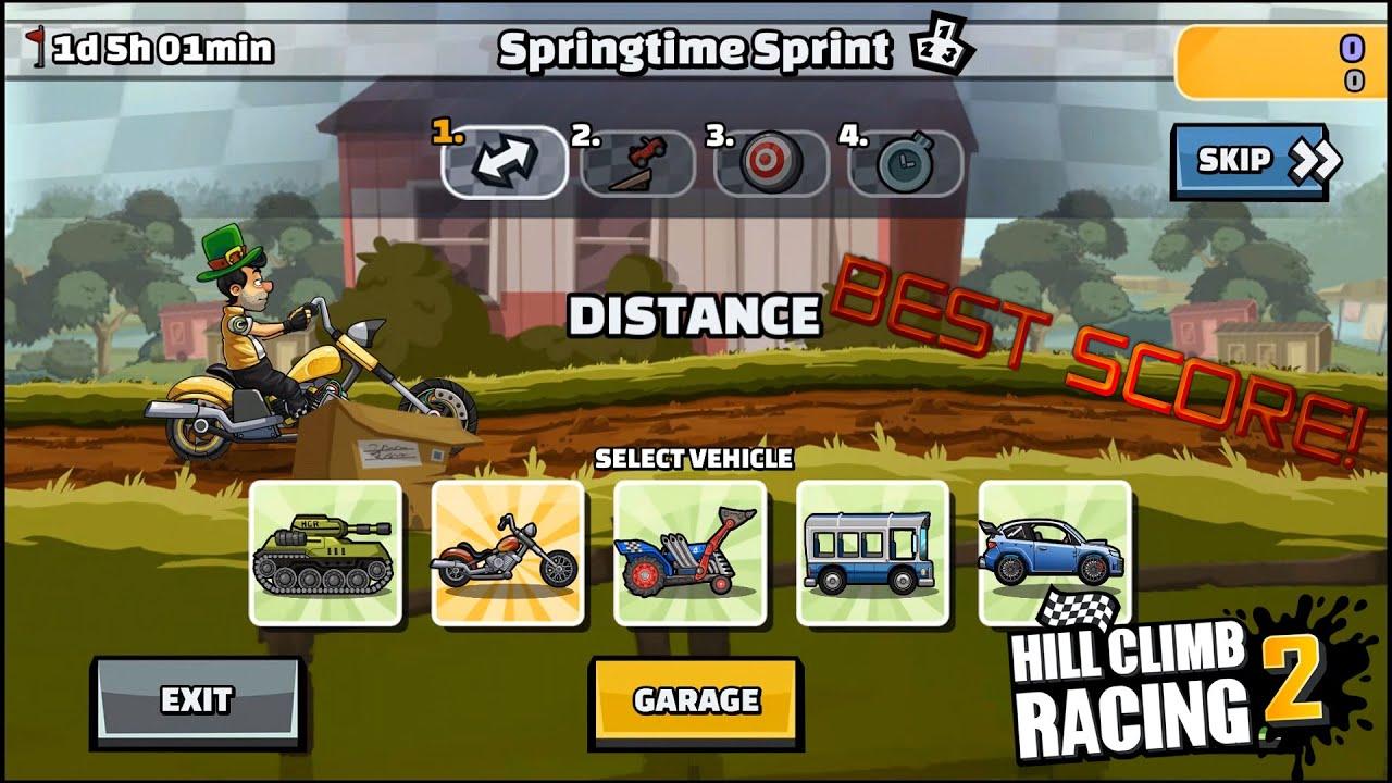 Hill Climb Racing 2 - Springtime Sprint Team Battle 36458 points!