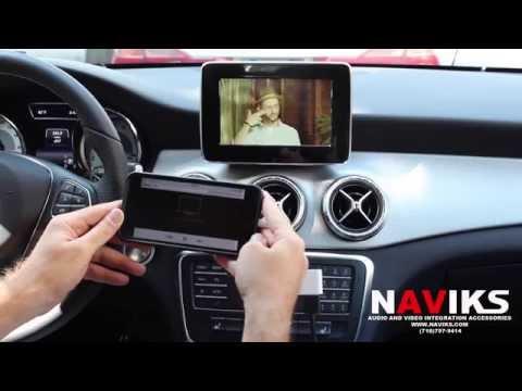 2015 Mercedes Benz CLA-Class C117 NAVIKS HDMI Video Interface Add Rearview Camera IPhone 6 Waze