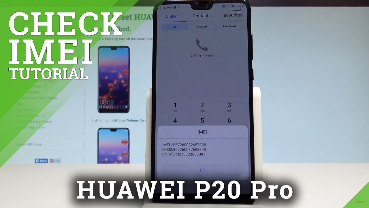 How to Check IMEI in HUAWEI P20 Pro - Serial Number |HardReset Info