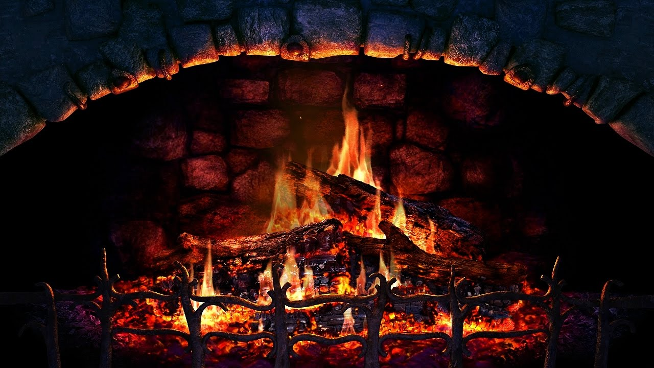 Burning Fireplace HD with Crackling Fire Sounds 1 Hour Long Video  YouTube