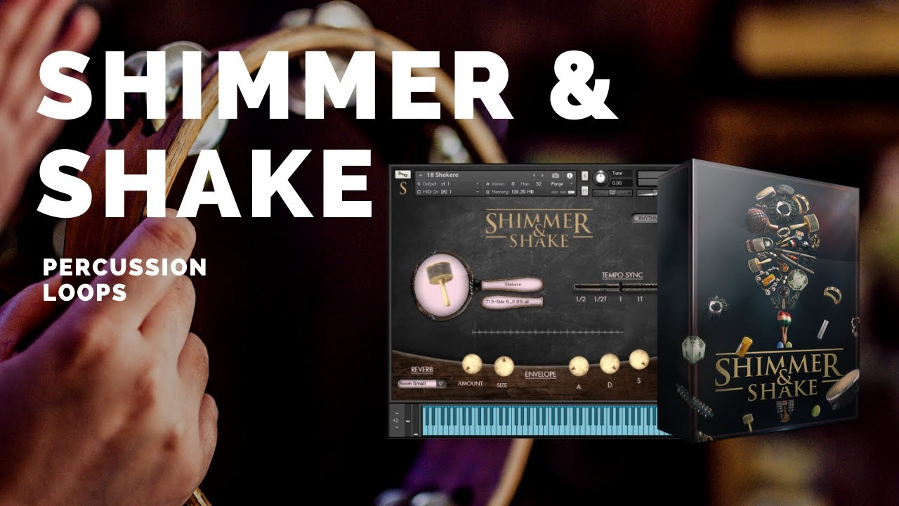 Shimmer & Shake - Light Percussion Loops featuring 25 shaker