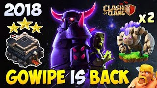 Gowipe + Queen Walk | New Town  Hall 9 (TH9) War Attack Strategy 2018 | Clash of Clans