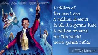 Video A Million Dreams Lyrics download MP3, 3GP, MP4, WEBM, AVI, FLV Juli 2018
