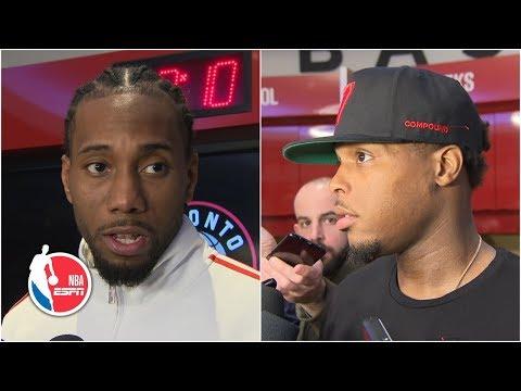Kawhi Leonard, Kyle Lowry react to Raptors losing Game 1 vs. Magic | NBA Sound
