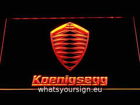 koenigsegg led neon sign youtube