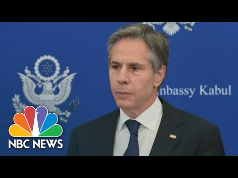 Blinken Says Action Must Follow Words During Surprise Visit To Kabul | NBC News NOW