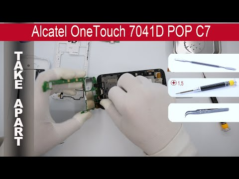 How to disassemble 📱 Alcatel One Touch 7041D POP C7, Take Apart, Tutorial