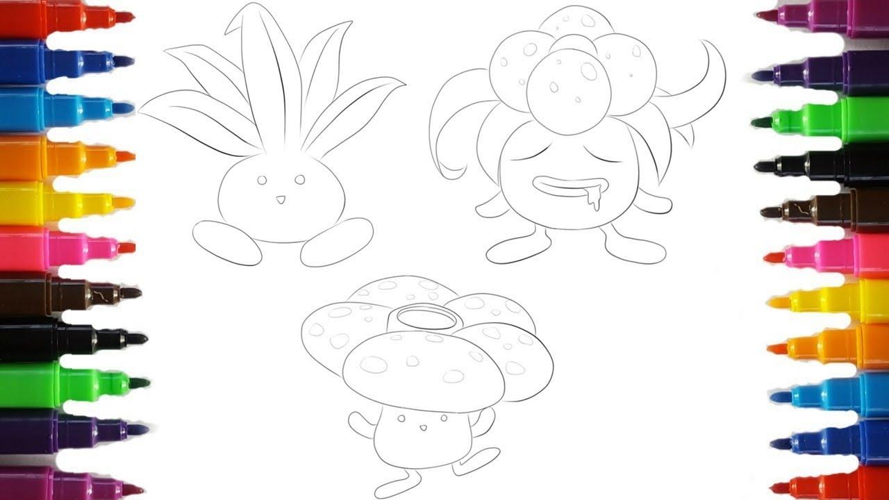 Pokemon Coloring Pages Oddish Evolution Coloring Book Fun   Pokemon ...