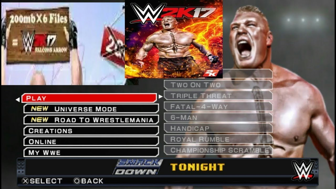 ppsspp wwe 2k17 game download for pc