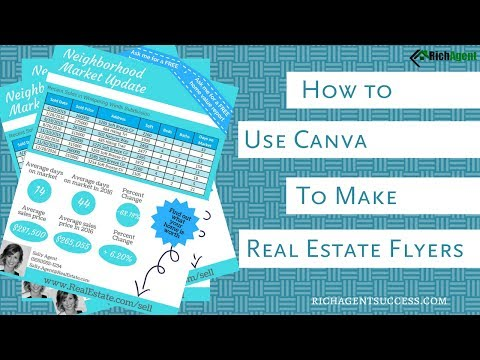 Create Marketing Flyers | Canva for Real Estate | Tutorial for Realtors