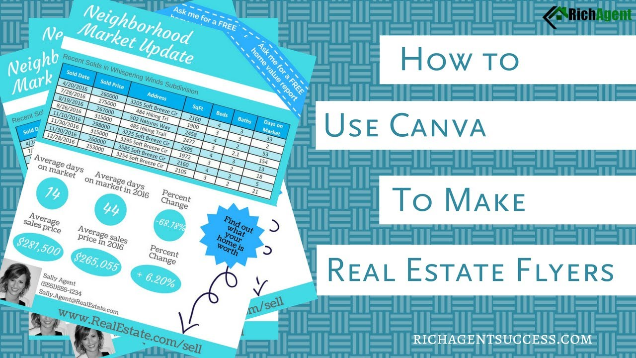 create marketing flyers canva for real estate tutorial for