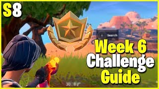 Search Where The Knife Points + Secret Hidden Banner | S8 Week 6 Challenge Guide | Fortnite