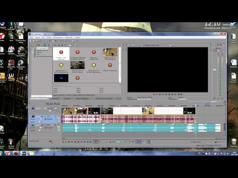 Процесс нанесения текста поверх видео в Sony Vegas