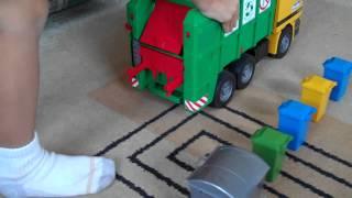 Phillips Bruder Toy Garbage Truck Video
