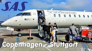 ✈TRIP REPORT | SAS Scandinavian Airlines (Economy) | Copenhagen - Stuttgart | Bombardier CRJ900