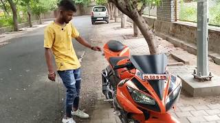Best modified yamaha r15 v2 with fat trye