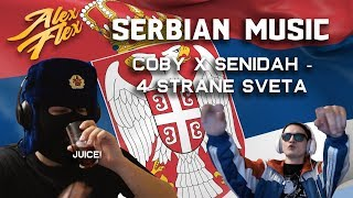 RUSSIAN BROS Alex Flex & Svenchik REACT TO SERBIAN MUSIC | Coby x Senidah - 4 Strane Sveta