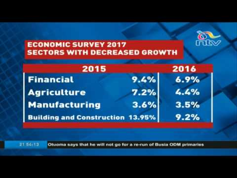 Economic survey 2017: Kenya's economy grows by 5.8% in 2016 up from 5.7% in 2015