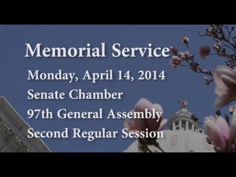 2014 Senate Memorial Service