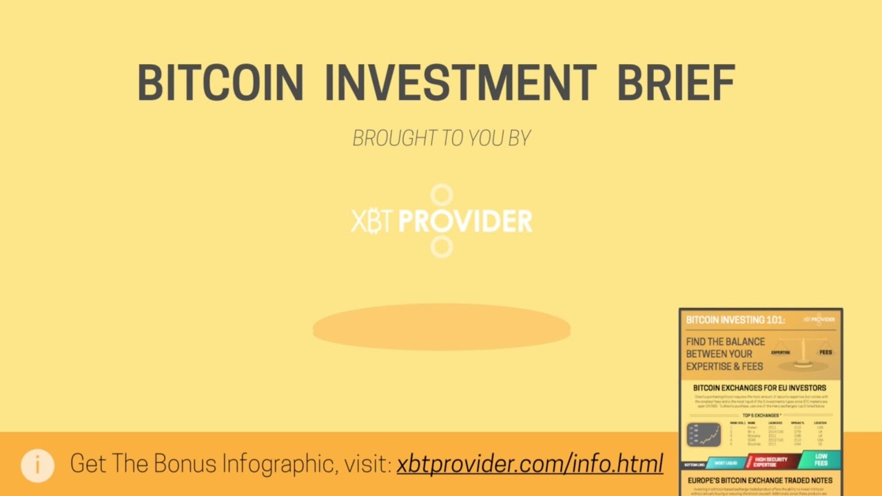 Bitcoin Investment Brief - Fees vs. Expertise - YouTube