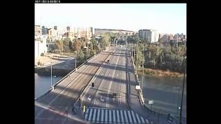 Amanecer en el Puente de Santiago, Zaragoza