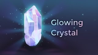 Glowing Crystal | Vector speed drawing | Affinity Designer | 4K