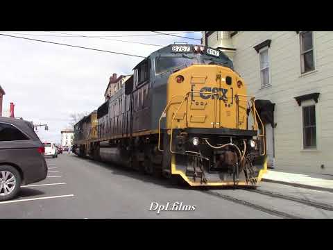 Street Running with the CSX Hudson Grain Train and More! 4/20/2018!