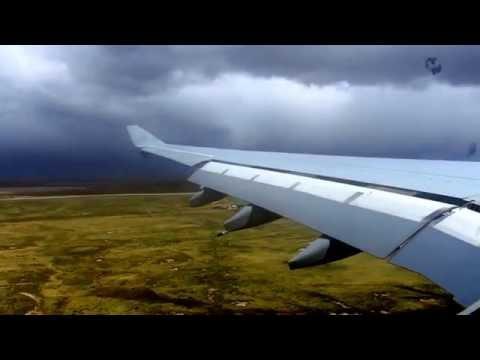 Airbus A330-243 Royal Air Force RR 2232 Landing at RAF Mt Pleasant