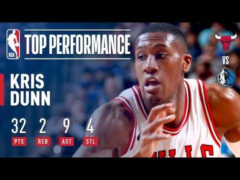 Kris Dunn Has Career High Scoring Night (32 pts) vs  The Mavericks