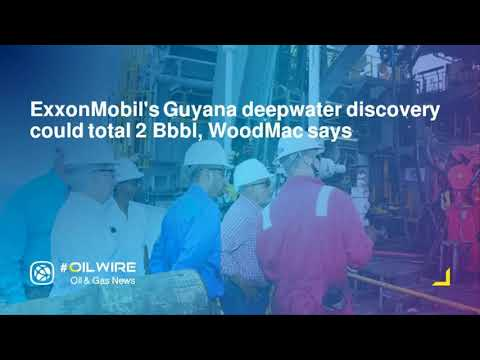 ExxonMobil's Guyana deepwater discovery could total 2 Bbbl, WoodMac says