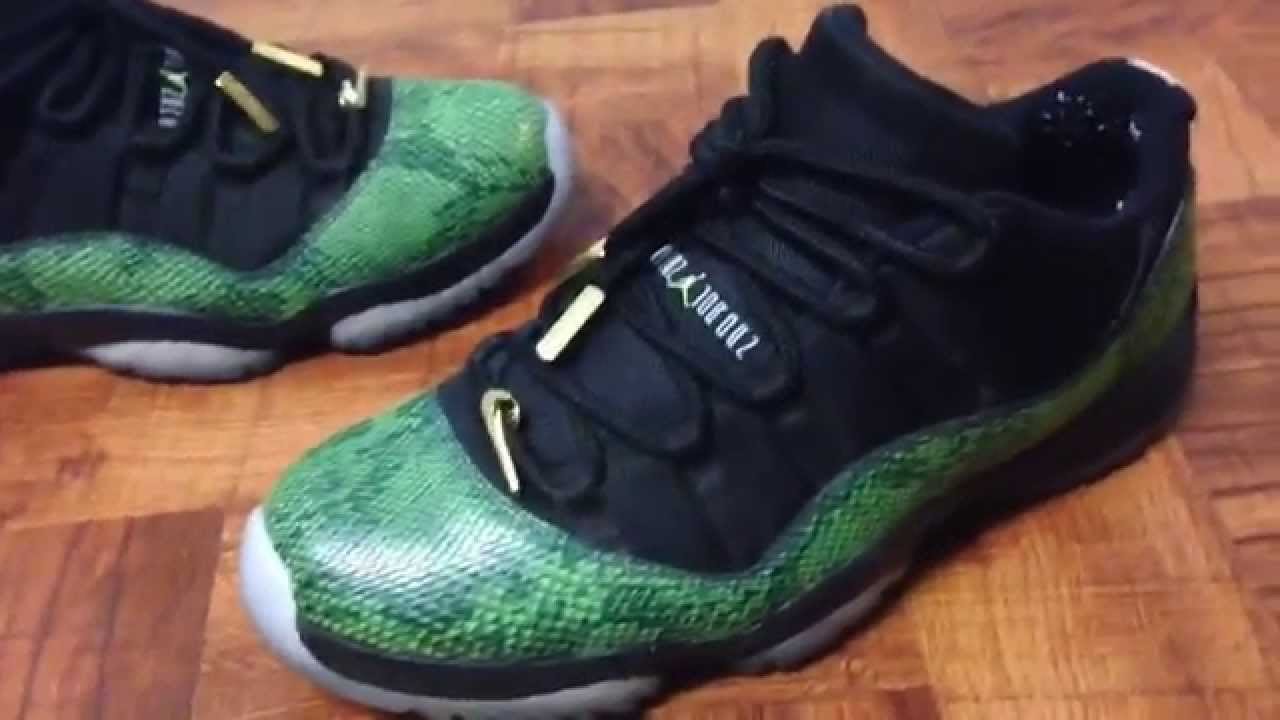 c95f7e74b253 First Customs  Air Jordan 11 Snakeskin Lows - YouTube
