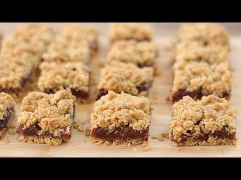 Date Oatmeal Squares Recipe | How To Make Date Squares