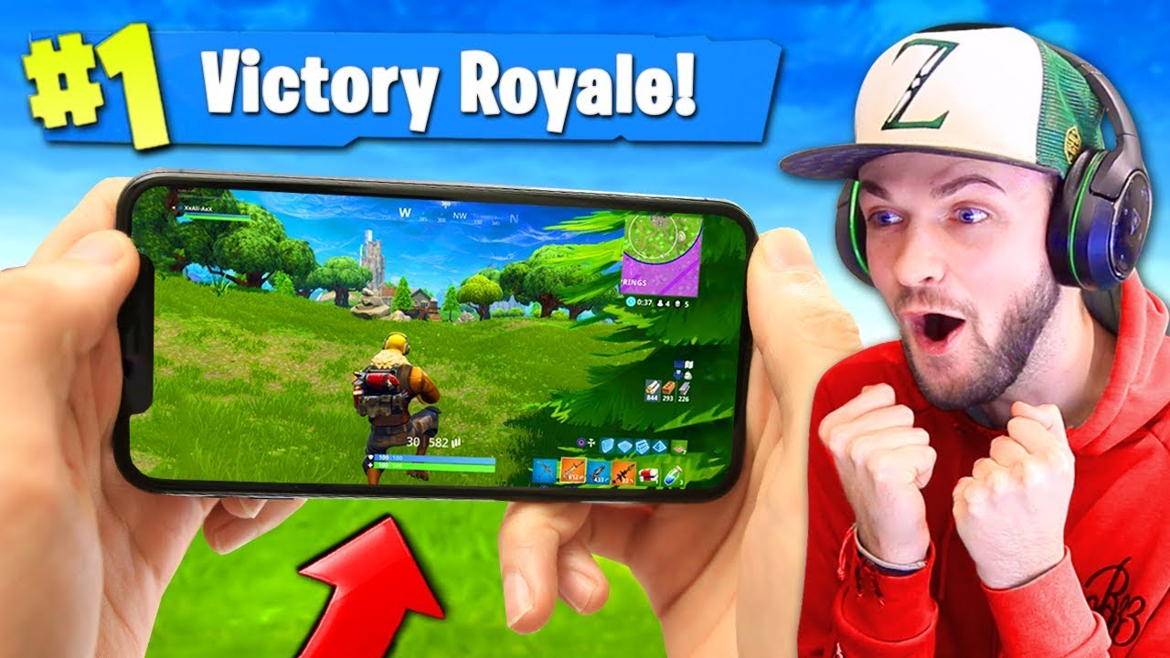 PLAYING Fortnite: Battle Royale ON MY PHONE! #1