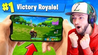 One of Ali-A's most viewed videos: PLAYING Fortnite: Battle Royale ON MY PHONE!