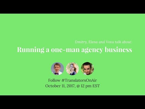 Running a one-person translation agency businessfeat @VovaZk