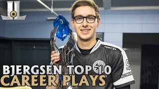 Bjergsen Top 10 Career Plays | Lolesports