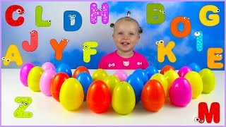 Learn The Alphabet with Surprise Eggs and Kid
