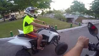 me desafiou - Corri contra um quadriciclo 700cc - quadriciclo vs moto