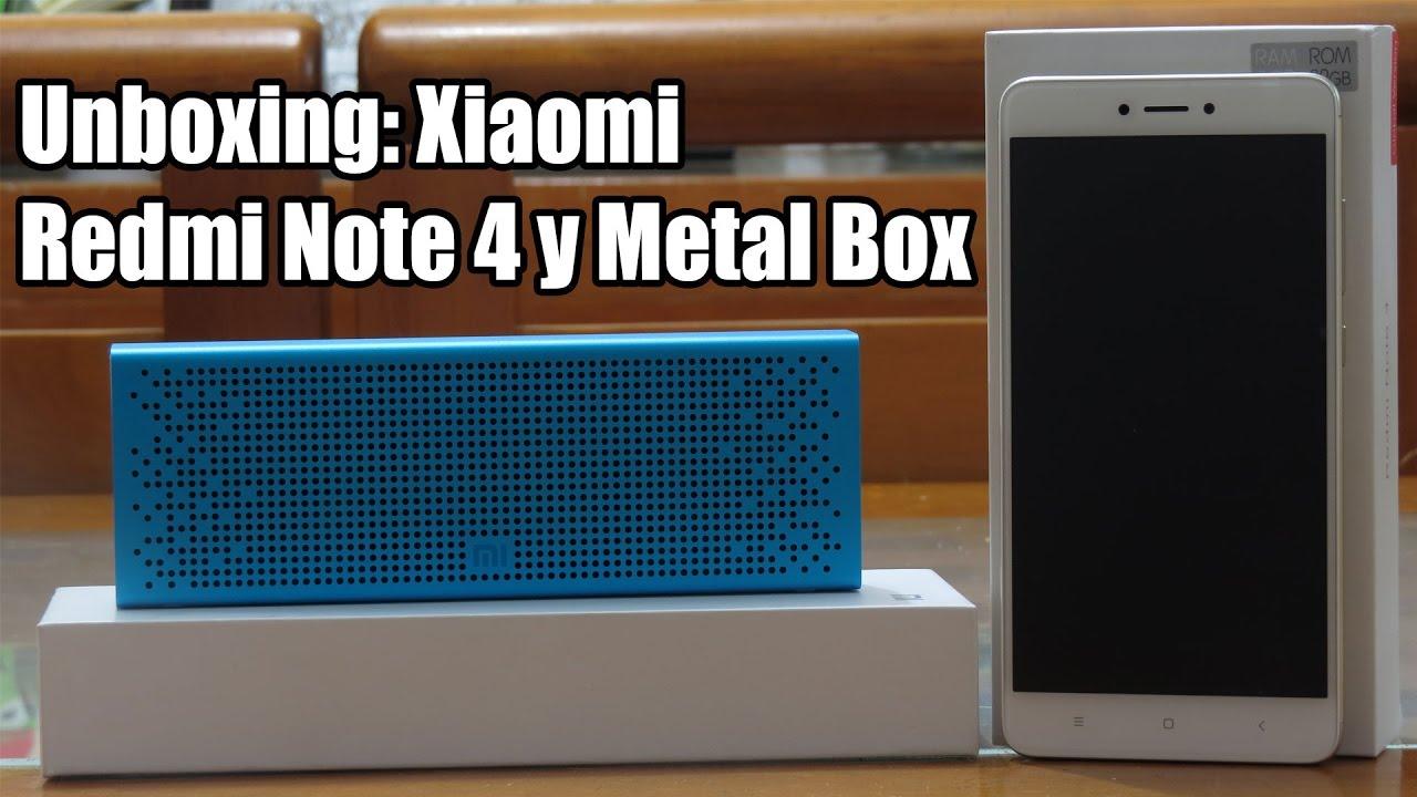 Redmi Note 4 Unboxing: Redmi Note 4 Version Internacional Y Bocina