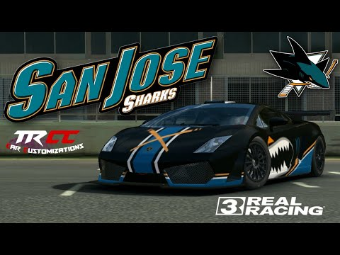 Real Racing 3 Car Customization: Lamborghini Gallarado LP560 GT3 | San Jose Sharks | Tylo Ren