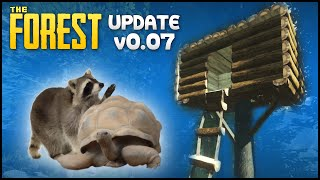 The Forest 0.07 Gameplay - Part 37 - Update 0.07, Building A Tree House & New Animals! (alpha V0.07)