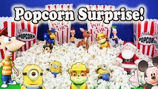 POPCORN SURPRISE a Paw Patrol, Minion, Mickey Mouse Popcorn Surprise Egg Video TheEngineeringFam
