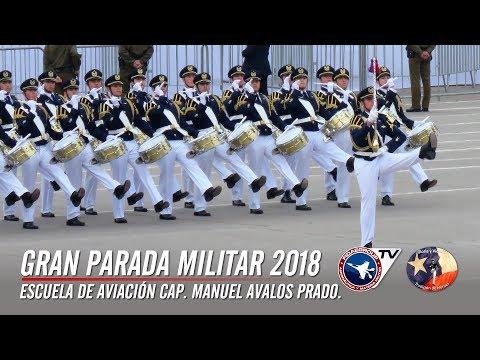 Escuela de Aviación en Gran Parada Militar Chile 2018. (Cámaras Fidaegroup + Aéreas) 3 de 9