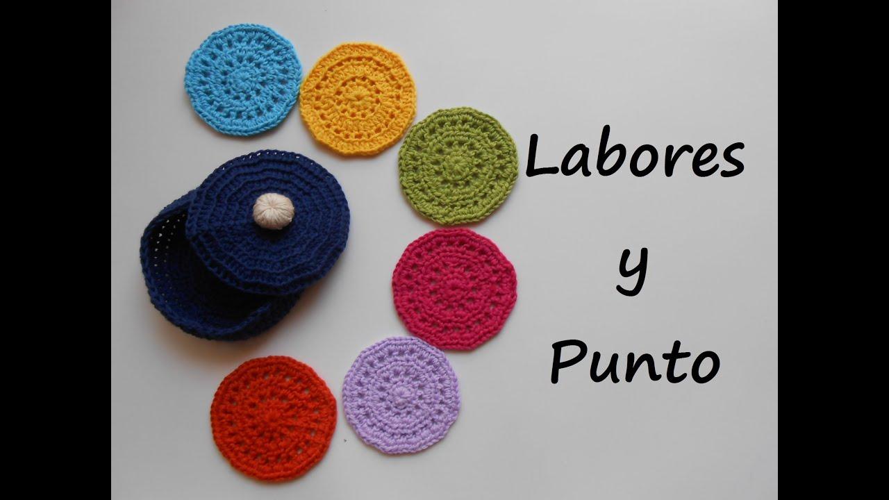 Aprende a tejer estos posavasos con su caja a ganchillo o - Posavasos de ganchillo ...