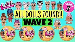 ALL DOLLS FOUND!! LOL SURPRISE Series 3 Wave 2 CONFETTI POP! FULL CASE UNBOXED! L.O.L Lil Sisters!