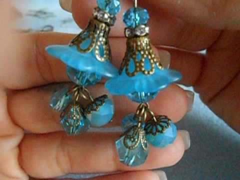Metal Filigree Dangle earrings and tutorial
