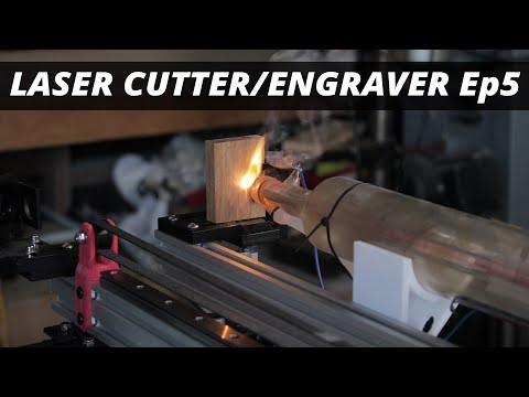 Ep5: Water Cooling & Laser Test. The DIY CO2 Laser Cutter / Engraver Build Series